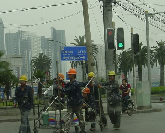 Painters in Shanghai Streets