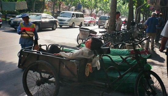 Sleeping in Tricycle