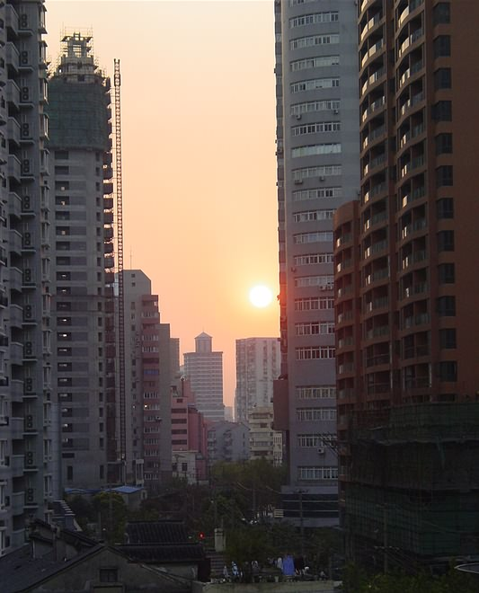 Sunset in Taixing Lu